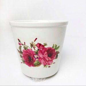 Flower Print Plant Pot Container